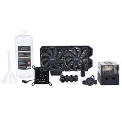 Alphacool Eissturm Gaming Copper 30 2x120mm - complete kit
