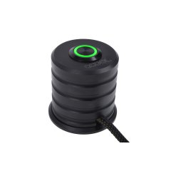 Alphacool Powerbutton with push-button 19mm green lighting - deep black