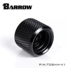 Barrow 14mm - 14mm OD Twin Seal Hard Tube Extention - Black