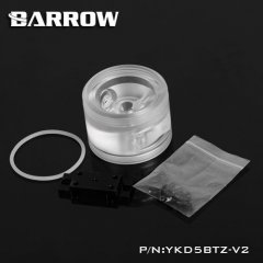 Barrow D5 round pump top and mount with reservoir thread - clear