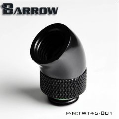 "Barrow G1/4"" 45 Degree Rotary Adaptor Fitting black"