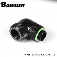Barrow G1/4 Male Rotary To 90 Degree, 12mm Hard Tube Compression Fitting - Black