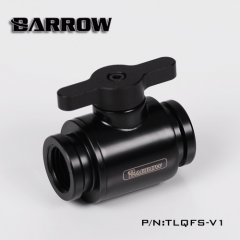 "Barrow G1/4"" Mini Ball Valve black with Metal Handle black"