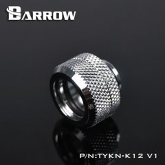 Barrow Hardtube Fitting 12mm silver nickel