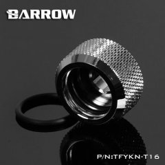 Barrow Hardtube Fitting 16mm Twin Seal - Shiny Silver