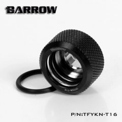 Barrow Hardtube Fitting 16mm Twin Seal - Black