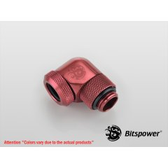 "Bitspower Deep Blood Red Enhance Rotary G1/4"" 90-Degree Multi-Link Adapter BP-DBRE90RML"