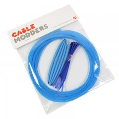 Cable Modders High Density 4mm Braid Sleeving Kit Aqua Blue - 3m