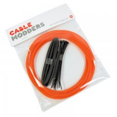 Cable Modders High Density 4mm Braid Sleeving Kit Orange - 3m