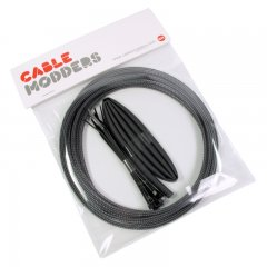 Cable Modders High Density 4mm Braid Sleeving Kit Carbon Fiber - 3m