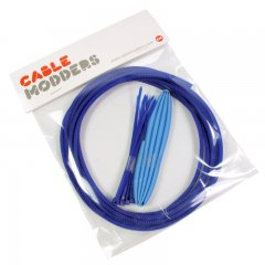 Cable Modders High Density 4mm Braid Sleeving Kit UV Blue - 3m