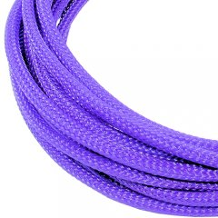 Cable Modders U-HD Braid Sleeving - UV Purple 2.5mm (1m)