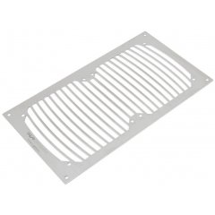 Aquacomputer mounting plate for airplex modularity system 240 and radical/PRO/XT 240, brushed stainless steel