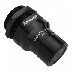 Koolance QD3 Male Quick Disconnect No-Spill Coupling, Panel Female Threaded G 1/4 BSPP Black QD3-MSFG4-P-BK