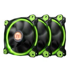 Thermaltake 120mm Riing 12 LED Green (3 fan pack)