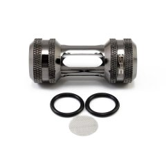 "XSPC G1/4"" Inline Filter (Black Chrome)"