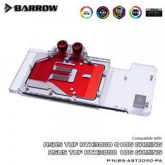 Barrow NVIDIA RTX 3080/3090, ASUS TUF Aurora LRC 2.0 RGB Graphics Card Waterblock
