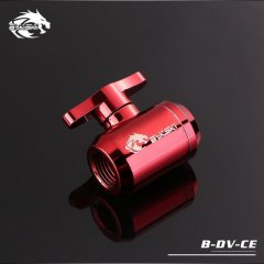 Bykski B-DV-CE, G1/4 Male / Male Mini Ball Valve Tap - Red