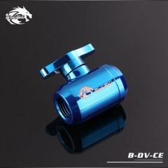 Bykski B-DV-CE, G1/4 Male / Male Mini Ball Valve Tap - Blue